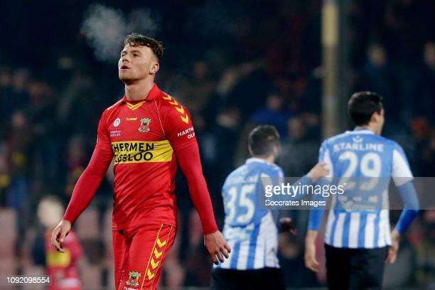 Julius Bliek of Go Ahead Eagles during the Dutch Keuken Kampioen Divisie match between Go Ahead Eagles v FC Eindhoven at the De Adelaarshorst on...