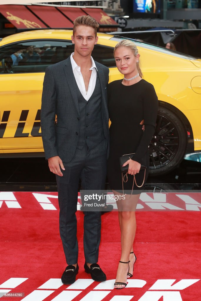 Julius Cowdrey and Ella Willis arrive at the 'Logan Lucky' UK premiere held at Vue West End on August 21, 2017 in London, England.