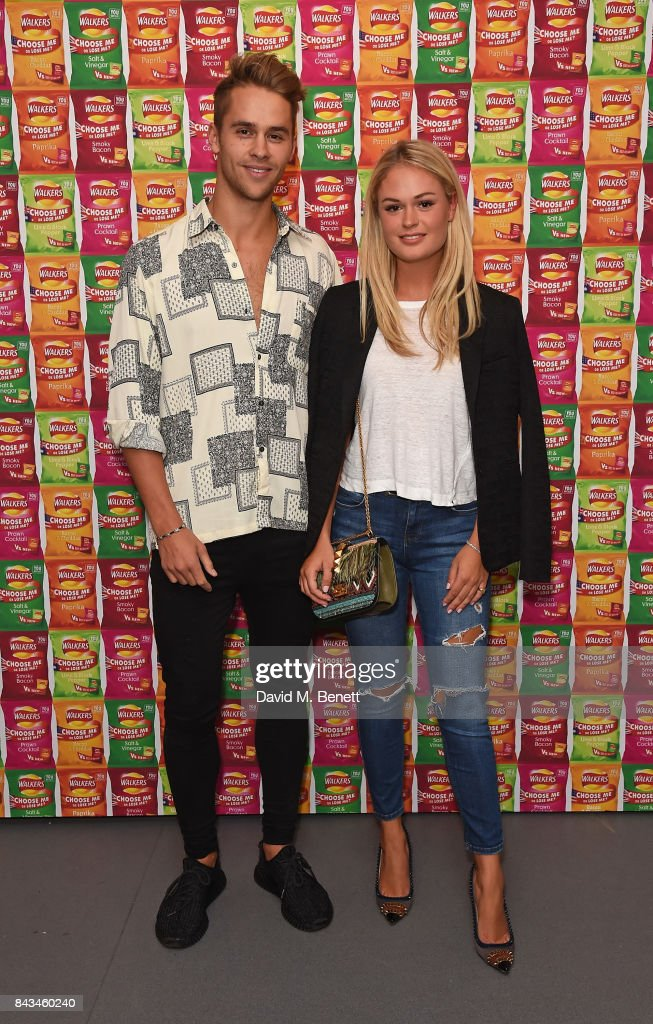 Julius Cowdrey and Ella Willis attend the Walkers Choose or Lose Campaign Launch Event on September 6, 2017 in London, England.