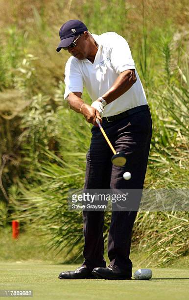 Julius Dr J Erving during 2003 ESPY Awards Celebrity Golf Classic at Lost Canyons Country Club in Simi Valley California United States