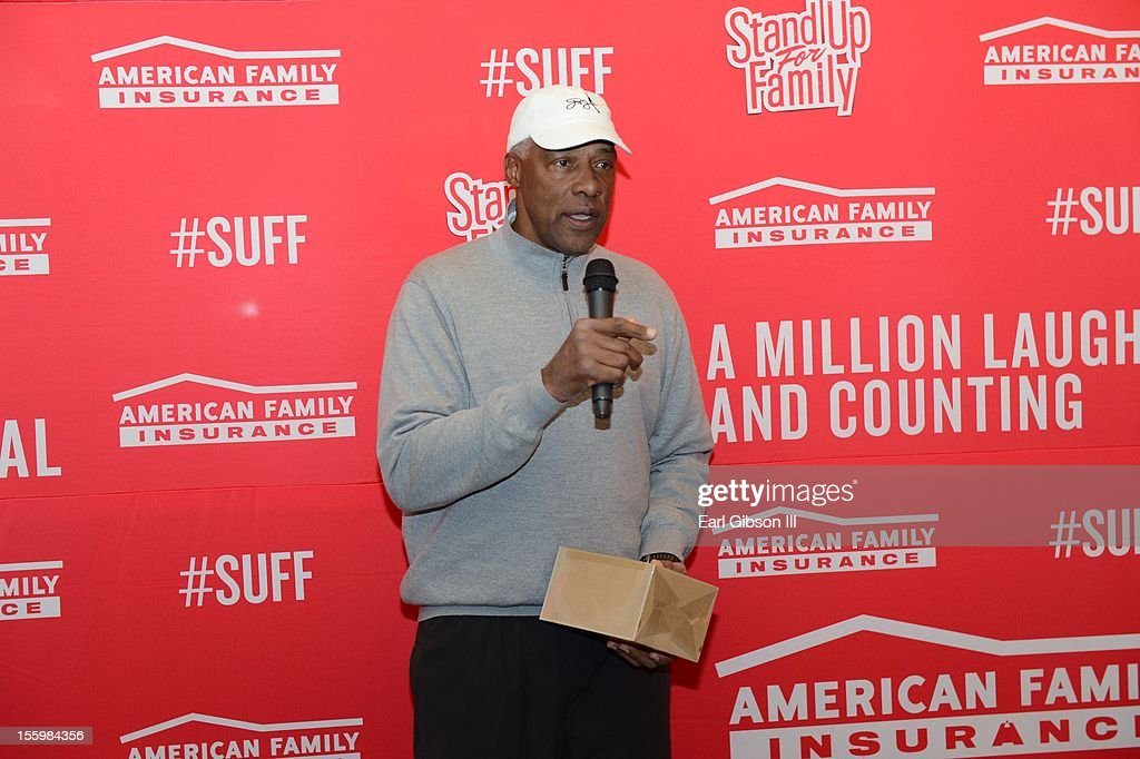 Julius 'DR. Jay' Erving speaks at the First Annual Soul Train Celebrity Golf Invitational on November 9, 2012 in Las Vegas, Nevada.