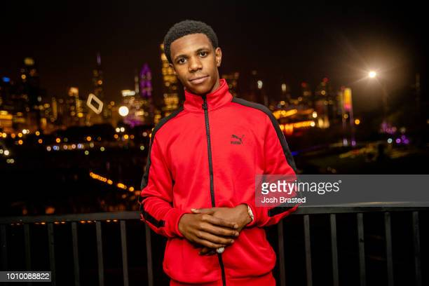 Julius Dubose aka A Boogie Wit Da Hoodie poses for a photo during Lollapalooza 2018 at Grant Park on August 2 2018 in Chicago Illinois