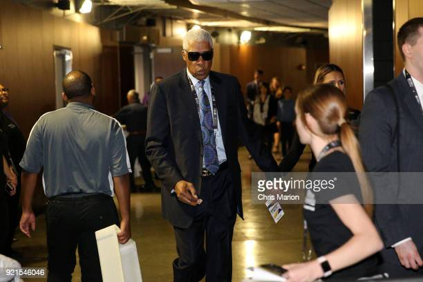 Julius Erbing is seen during the NBA AllStar Game as a part of 2018 NBA AllStar Weekend at STAPLES Center on February 18 2018 in Los Angeles...