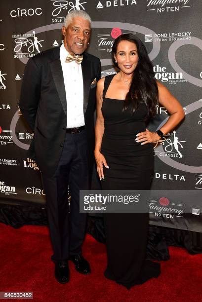 Julius Erving and Beverly Johnson attend the Erving Golf Classic Black Tie Ball sponsored by Delta Airlines Pond LeHocky Law with cocktails presented...