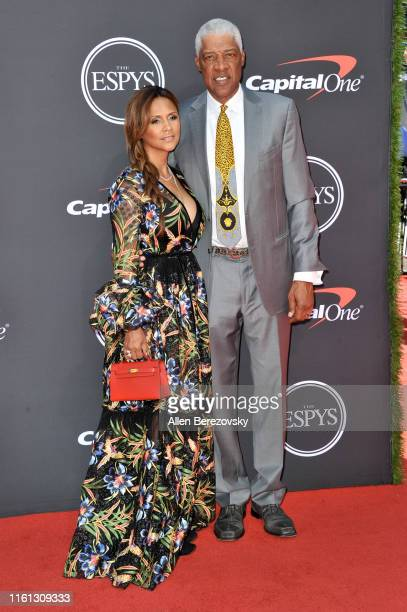 Julius Erving and Dorýs Madden attend the 2019 ESPY Awards at Microsoft Theater on July 10 2019 in Los Angeles California