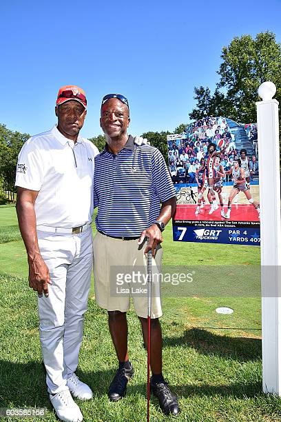 Julius Erving and Joe Godwin during the Julius Erving Golf Classic Event at the ACE Club on September 12 2016 in Lafayette Hill Pennsylvania