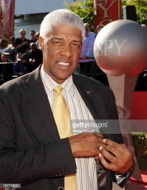 Julius Erving arrives at the 2010 ESPY Awards at the Nokia Theatre LA Live on July 14 2010 in Los Angeles California