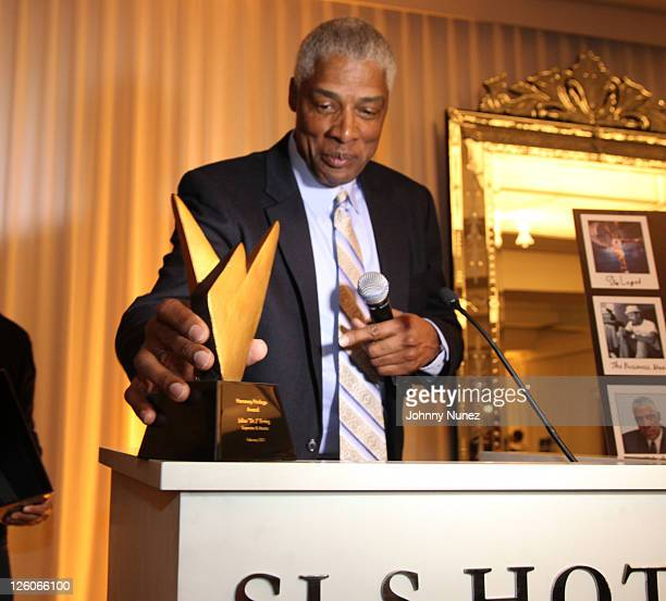 Julius Erving attends the Hennessy Presents The Conversation Erving Simmons Mentorship Dinner at the SLS Hotel on February 18 2011 in Beverly Hills...
