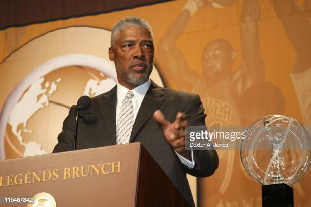 Julius Erving during NBA Retired Players Association Annual AllStar Weekend and Bruncheon February 18 2007 at Mandalay Bay Hotel and Resort in Las...