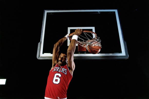 """Julius """"Dr. J"""" Irving of the Philadelphia 76ers"""
