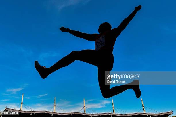 Julius Fidami Kinda of France competes in the Men's Long Jump National Event during day 1 of the European Athletics Team Championships at the Lille...