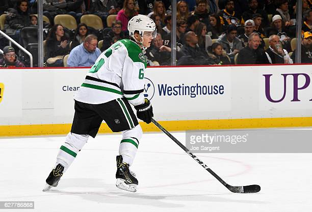 Julius Honka of the Dallas Stars skates against the Pittsburgh Penguins at PPG Paints Arena on December 1 2016 in Pittsburgh Pennsylvania
