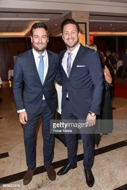 Julius Jakob Vollhardt and TV Bachelor Daniel Voelz during the Aline Reimer Foundation Gala on July 7 2018 in Berlin Germany