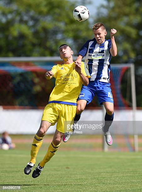 Julius Kade of Hertha BSC during the training match between FC Schwedt 02 and Hertha BSC on july 3 2016 in Berlin Germany