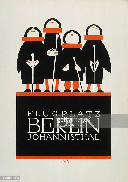 Julius Klinger Poster for Airport Berlin Johannisthal 1908 Colour lithograph
