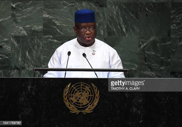 Julius Maada Bio President of Sierra Leone addresses the 73rd session of the General Assembly at the United Nations in New York September 27 2018