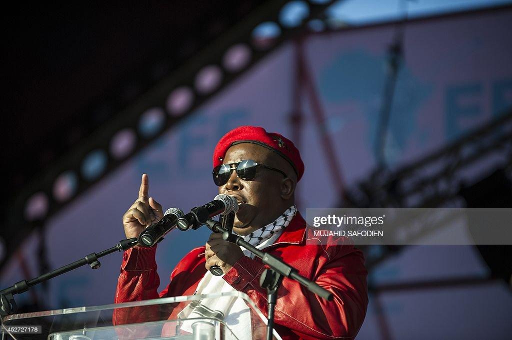 SAFRICA-POLITICS-PARTIES-EFF-ANNIVERSARY : News Photo
