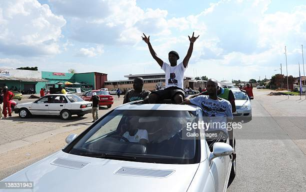 Julius Malema detractors drive through the streets to celebrate his demise in Seshego, South Africa, on February 4, 2012. This was after the national...