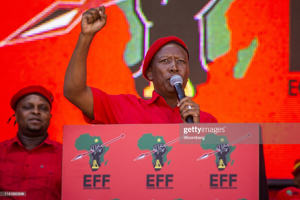 Economic Freedom Fighters Campaign Rally Ahead Of South African Election : News Photo