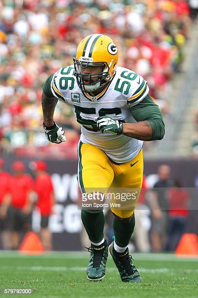 Julius Peppers of the Packers during the regular season game between the Green Bay Packers and the Tampa Bay Buccaneers at Raymond James Stadium in...