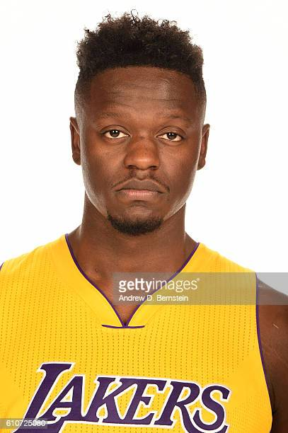 Julius Randle of the Los Angeles Lakers poses for a portrait during the 20162017 Los Angeles Lakers Media Day at Toyota Sports Center on September 26...
