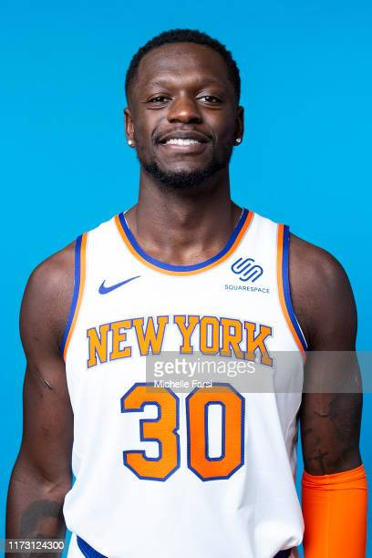 Julius Randle of the New York Knicks poses for a head shot during media day on September 30, 2019 at the Madison Square Garden Training Center in...