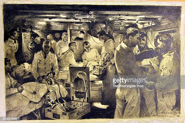 Julius SchmitzWesterholt's 'Surgical Ward on German Navy Ship' is a 1940 charcoal drawing on paper that is being housed at the Army Art Collection US...