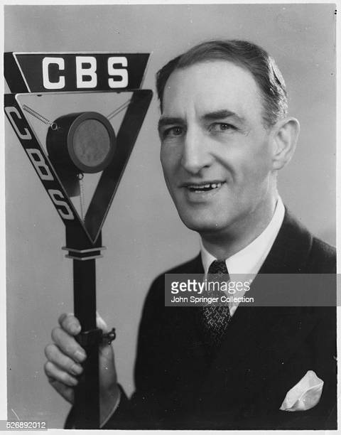 Julius Tannen the loquacious radio announcer whose jibes and wheezes are reasons why fans tune in to the CBS LINIT program