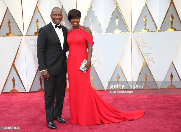 Julius Tennon and actress Viola Davis arrive at the 89th Annual Academy Awards at Hollywood Highland Center on February 26 2017 in Hollywood...