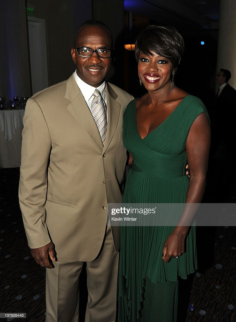 Julius Tennon (L) and actress Viola Davis attend the 23rd annual Producers Guild Awards at The Beverly Hilton hotel on January 21, 2012 in Beverly Hills, California.