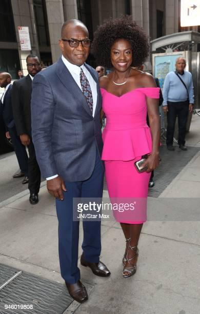 Julius Tennon and Viola Davis are seen on April 13 2018 in New York City