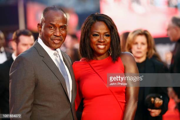 """Julius Tennon and Viola Davis attend the European Premiere of """"Widows"""" and opening night gala of the 62nd BFI London Film Festival on October 10,..."""
