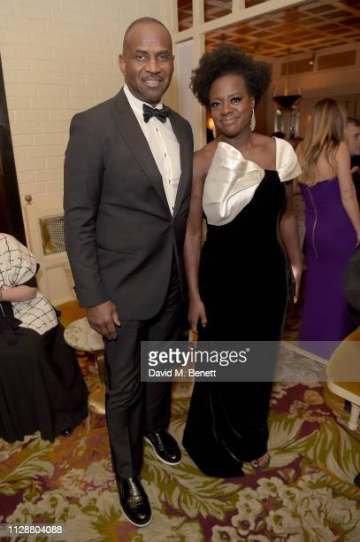 Julius Tennon and Viola Davis attends the Netflix 2019 BAFTA AWARDS After Party at Chiltern Firehouse on February 10 2019 in London England