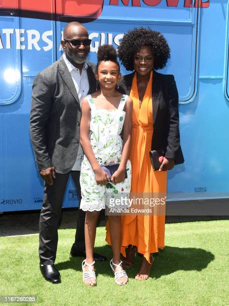 Julius Tennon Genesis Tennon and Viola Davis arrive at the premiere of Sony's The Angry Birds Movie 2 on August 10 2019 in Los Angeles California