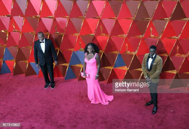 Julius Tennon Viola Davis and Daniel Kaluuya attend the 90th Annual Academy Awards at Hollywood Highland Center on March 4 2018 in Hollywood...