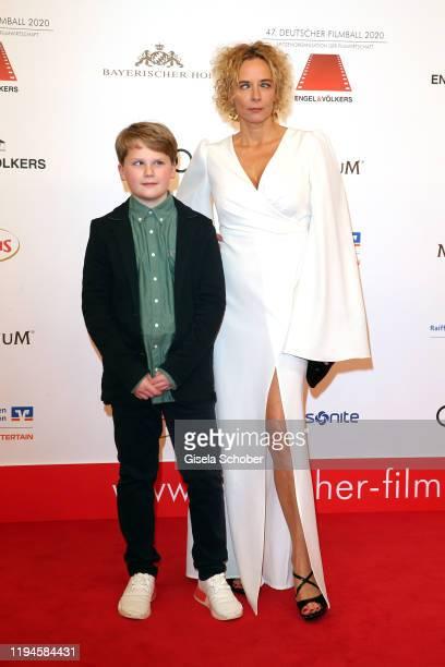 Julius Weckauf Katja Riemann during the 47th German Film Ball at Hotel Bayerischer Hof on January 18 2020 in Munich Germany