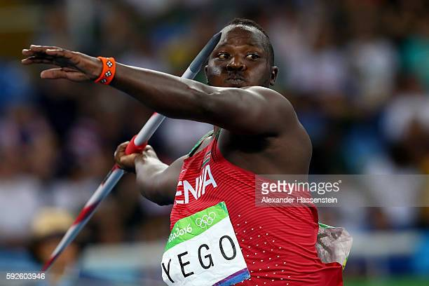 Julius Yego of Kenya competes during the Men's Javelin Throw Final on Day 15 of the Rio 2016 Olympic Games at the Olympic Stadium on August 20 2016...