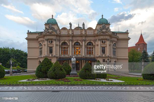 juliusz słowacki theatre in krakow - gwengoat stock pictures, royalty-free photos & images