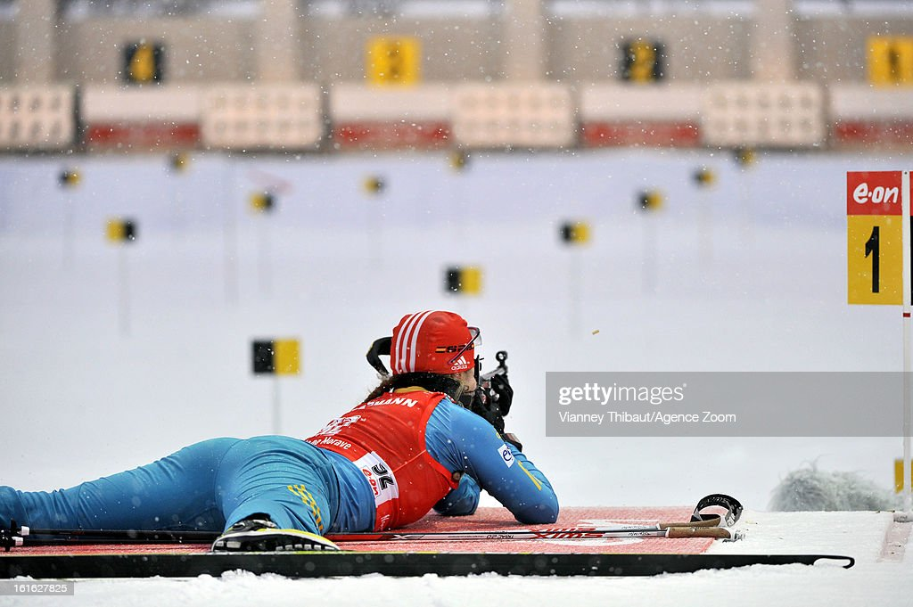 Juliya Dzhyma of Ukraine competes during the IBU Biathlon World Championship Women's 15km Individual on February 13, 2013 in Nove Mesto, Czech Republic.