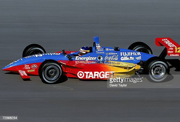 Driver Jimmy Vasser of USA who drives the Honda Reynard 99I for Target/Chip Ganassi speeds down the track during the US 500 part of the 1999 CART...