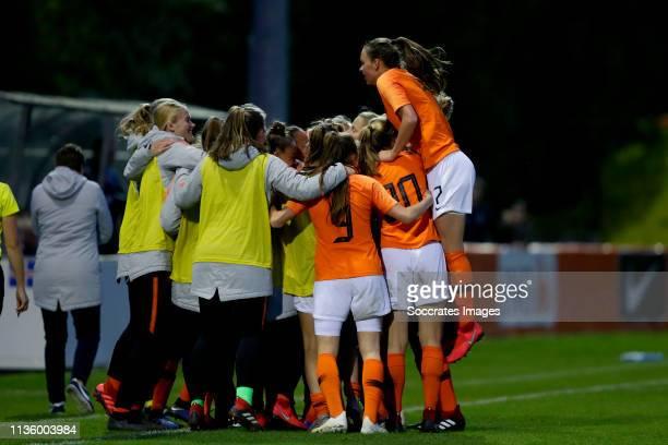 Jull Baijings of Holland U19 Women, Kirsten van de Westeringh of Holland U19 Women, Lynn Wilms of Holland U19 Women, Lieske Carleer of Holland U19...