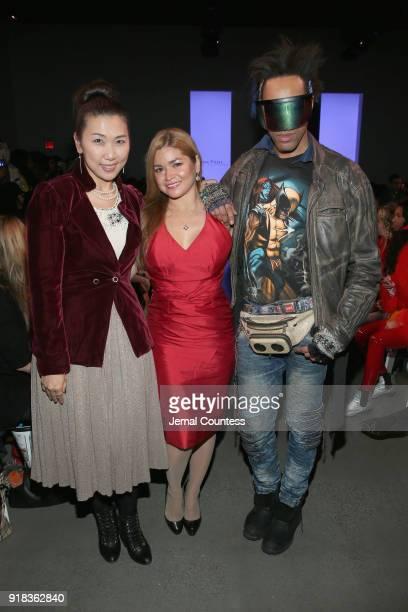Jullia King Karen Koeningsberg and Andre Benton attend the Irina Vitjaz front row during New York Fashion Week The Shows at Gallery I at Spring...