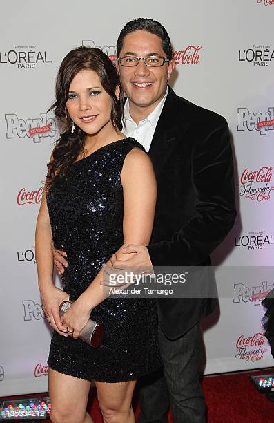Jullye Giliberti and Fernando Del Rincon attend People en Espanol's Las Estrellas del Ano 2011 at Rubell Family Collection on December 8 2011 in...