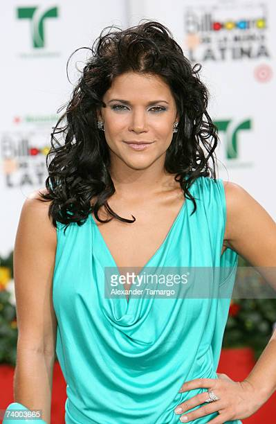 Jullye Giliberti attends the 2007 Billboard Latin Music Awards at the Bank United Center April 26 2007 in Coral Gables Florida