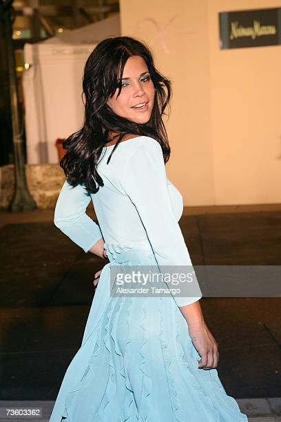 Jullye Giliberti poses on the runway during the 5th Annual Ocean Drive Espanol Fashion Xtravaganza on March 15 2007 in Coral Gables Florida
