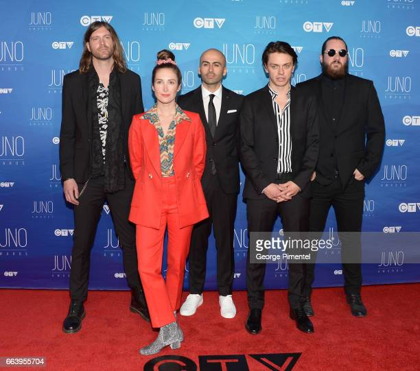 Jult Talk arrives at the 2017 Juno Awards at Canadian Tire Centre on April 2 2017 in Ottawa Canada