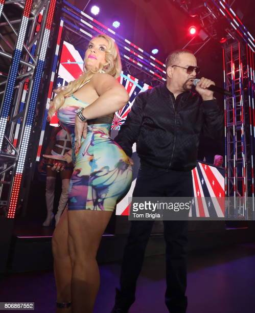 IceT and Coco Austin perform during The Pool After Dark at Harrah's Resort on Saturday July 1 2017 in Atlantic City New Jersey