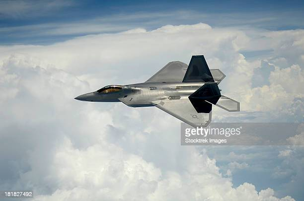 July 10, 2012 - A U.S. Air Force F-22 Raptor aircraft in flight over Maryland.