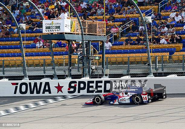 Driver Takuma Sato during the Verizon Indycar Series Iowa Corn 300 at Iowa Speedway Newton IA