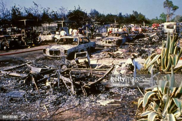 July 11 1978 San Carlos de la Rapita Tarragona Catalonia Spain Explosion of a loaded tanker of propylene gas in 'Los Alfaques' camping site 215...